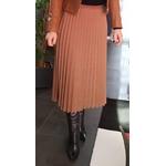 jupe plissée irisée camel femme