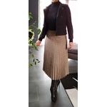 jupe plissée à carreaux tendance femme