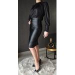 jupe crayon simili cuir noir  tendance femme