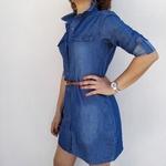 GIULIA tunique en jean avec ceinture mode femme
