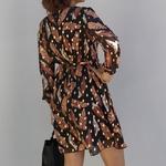 CLARA robe classe flocage doré tendance femme