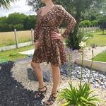 LUNA robe flocage doré mode femme