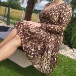 LUNA robe motif léopard tendance