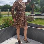 LUNA robe imprimé léopard tendance