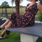 KAMILA robe imprimé fleur tendance femme