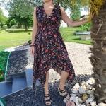 KAMILA robe noire tendance femme