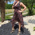 KAMILA robe noire mode femme