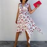 KAMILA robe blanche tendance femme