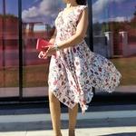 KAMILA robe asymétrique femme tendance