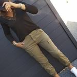 CIARA magnifique pantalon cargo kaki streetwear