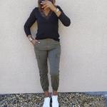 CIARA magnifique pantalon cargo kaki mode femme