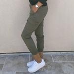 CIARA pantalon style cargo kaki femme tendance