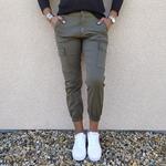 CIARA pantalon cargo kaki femme tendance
