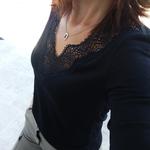 JENNA top noir dentelle femme