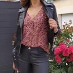 CALY blouse imprimé léopard flocage doré femme tendance