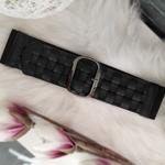 ceinture tressée noire large tendance femme
