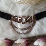 ceinture chaine femme argent noir