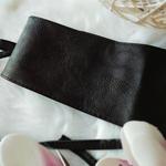 ceinture bandeau noir femme
