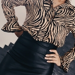 LANA chemise motif zèbre femme tendance