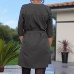 EMMA robe kaki tendance femme