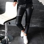 JANNA pantalon enduit noir femme