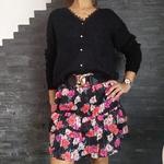LYSE jupe à volants imprimé fleur femme