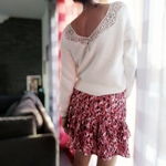 laly jupe courte imprimé floral femme