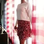 laly jupe à volants imprimé fleur femme
