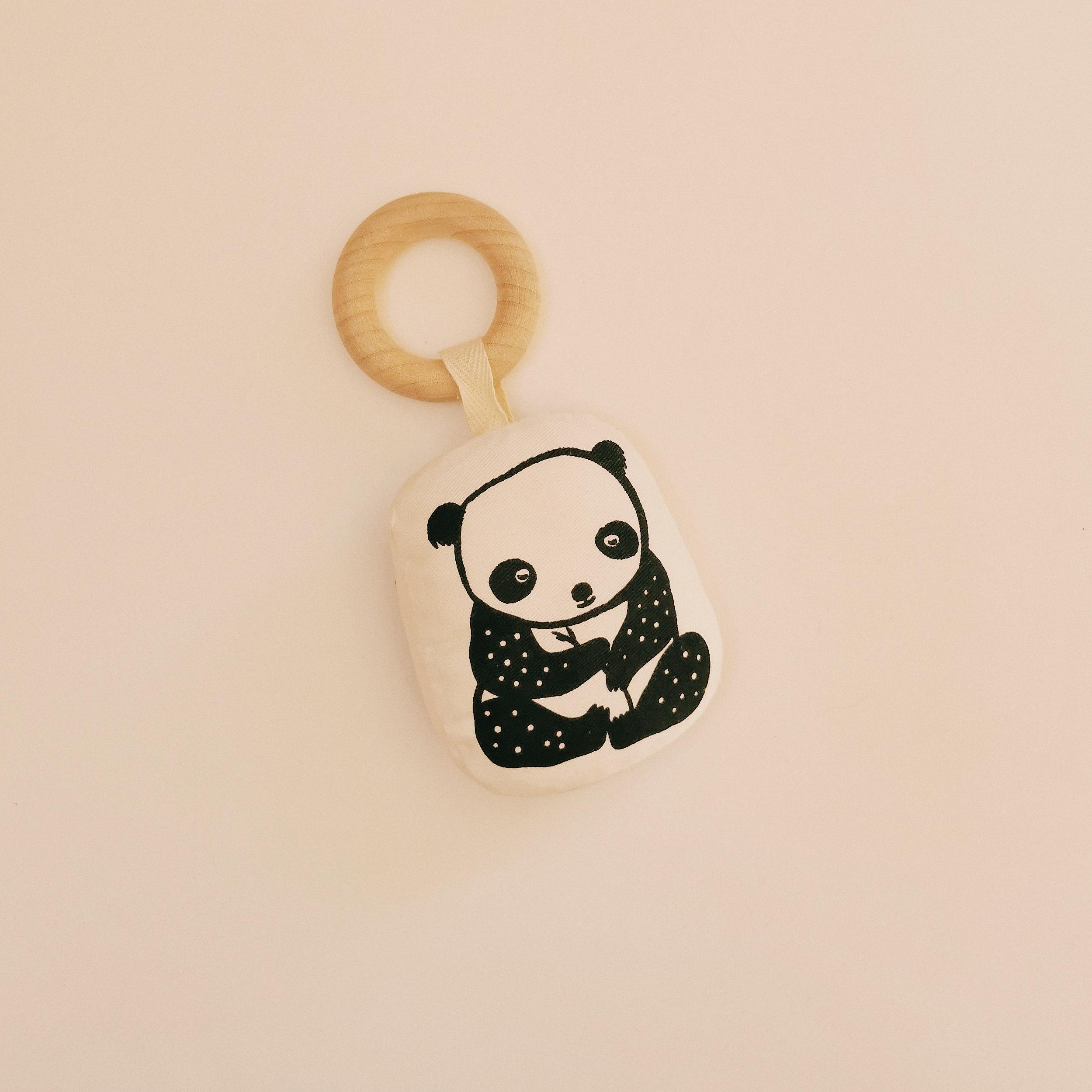 Anneau de dentition en bois panda