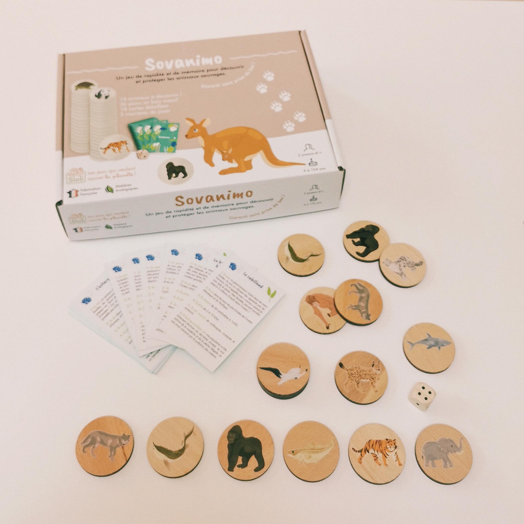 Sovanimo jeu de mémoire en bois à partir de 4 ans