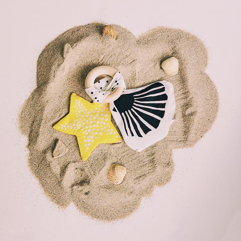 Anneau de dentition et jouet à froisser étoile de mer