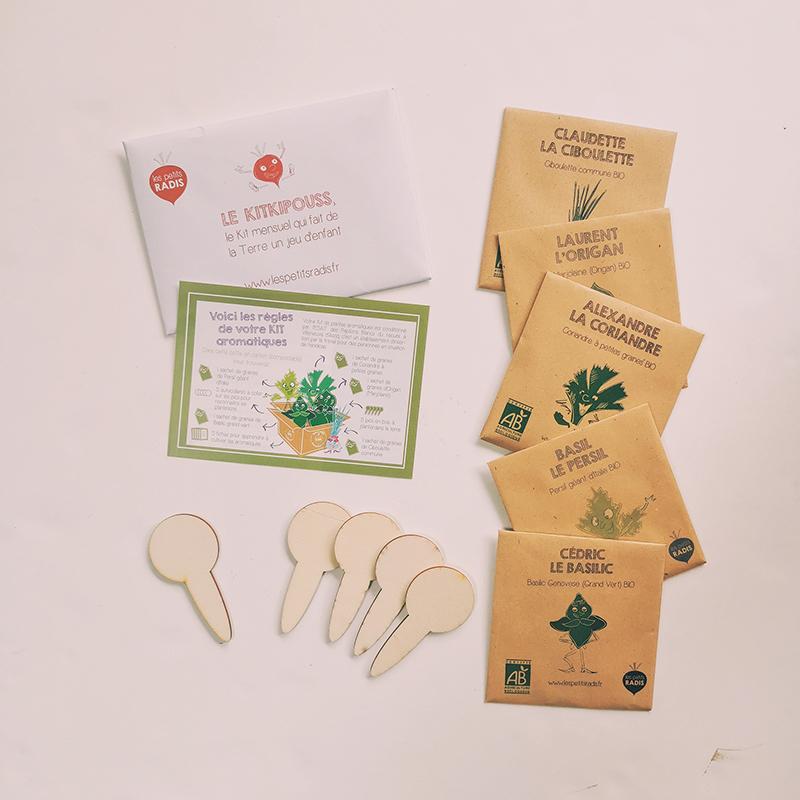 Kit plantes aromatiques bio des enfants