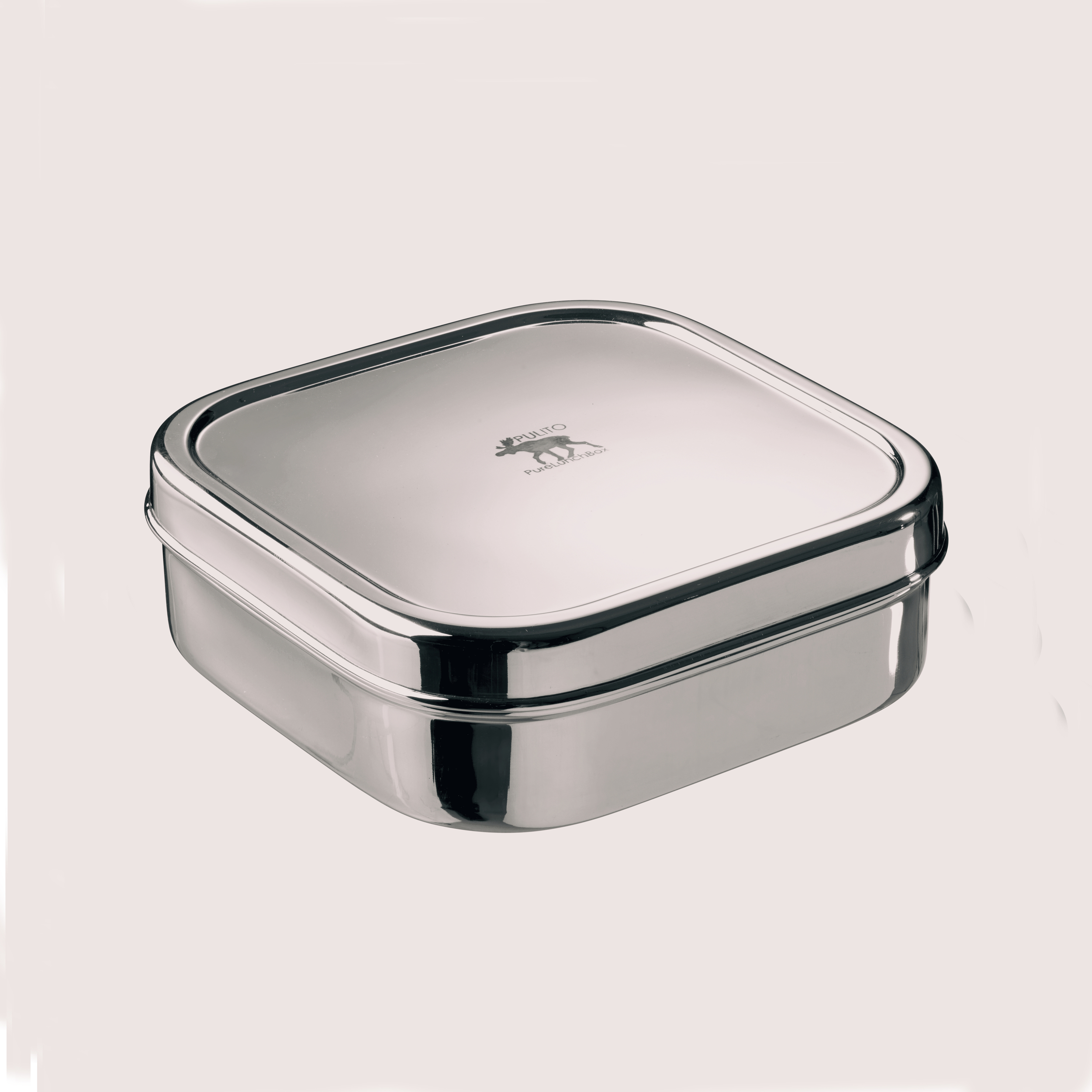 Boîte à goûter lunchbox en inox carrée