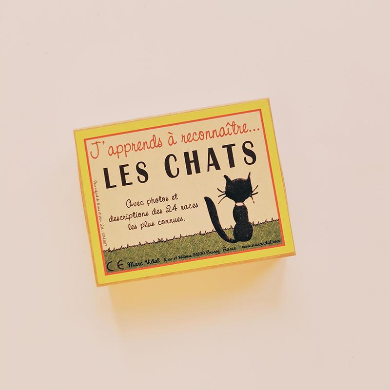 Cartes éducatives J\'apprends à reconnaître les chats