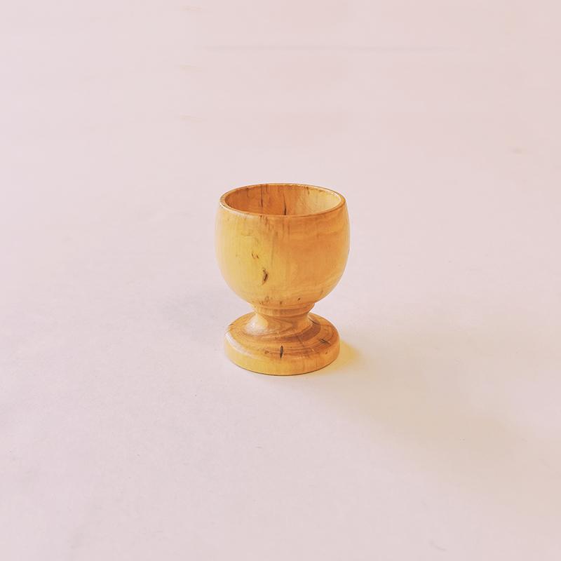 Coquetier en bois de buis