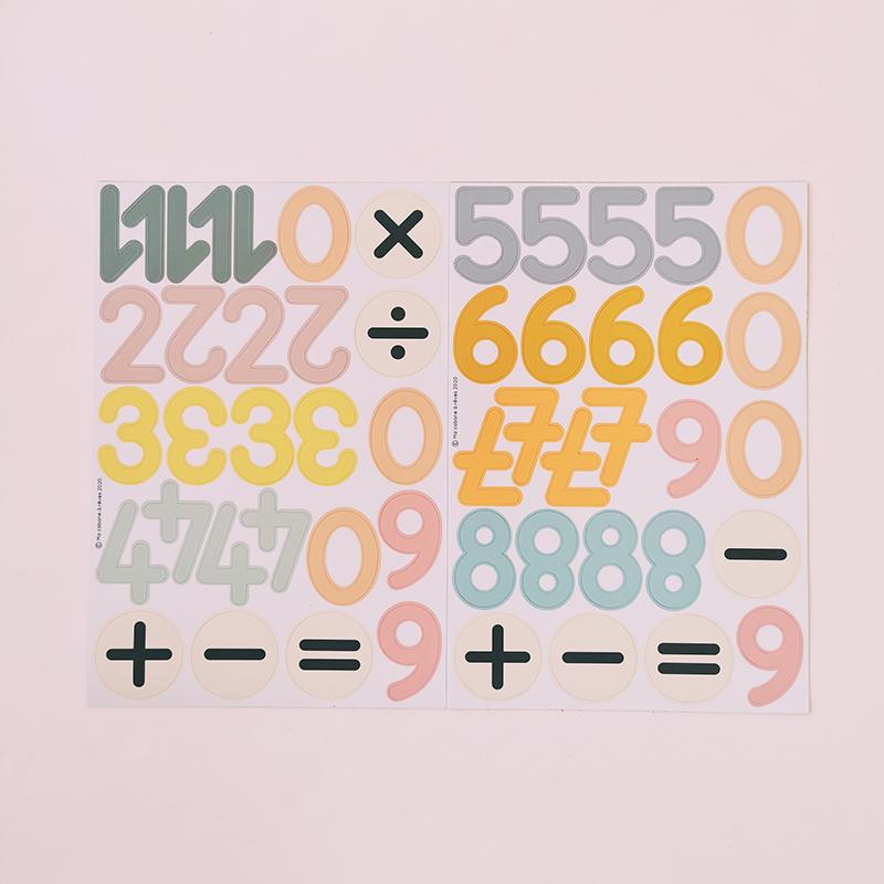 compter avec des magnets chiffres
