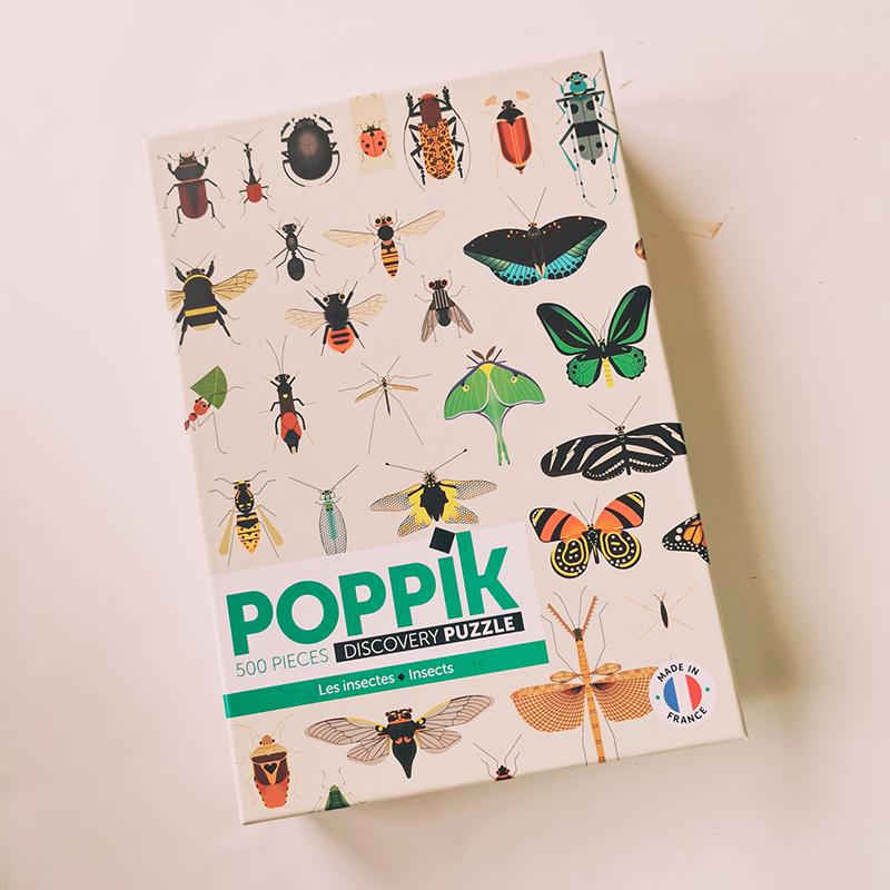 Puzzle 500 pièces insectes Poppik