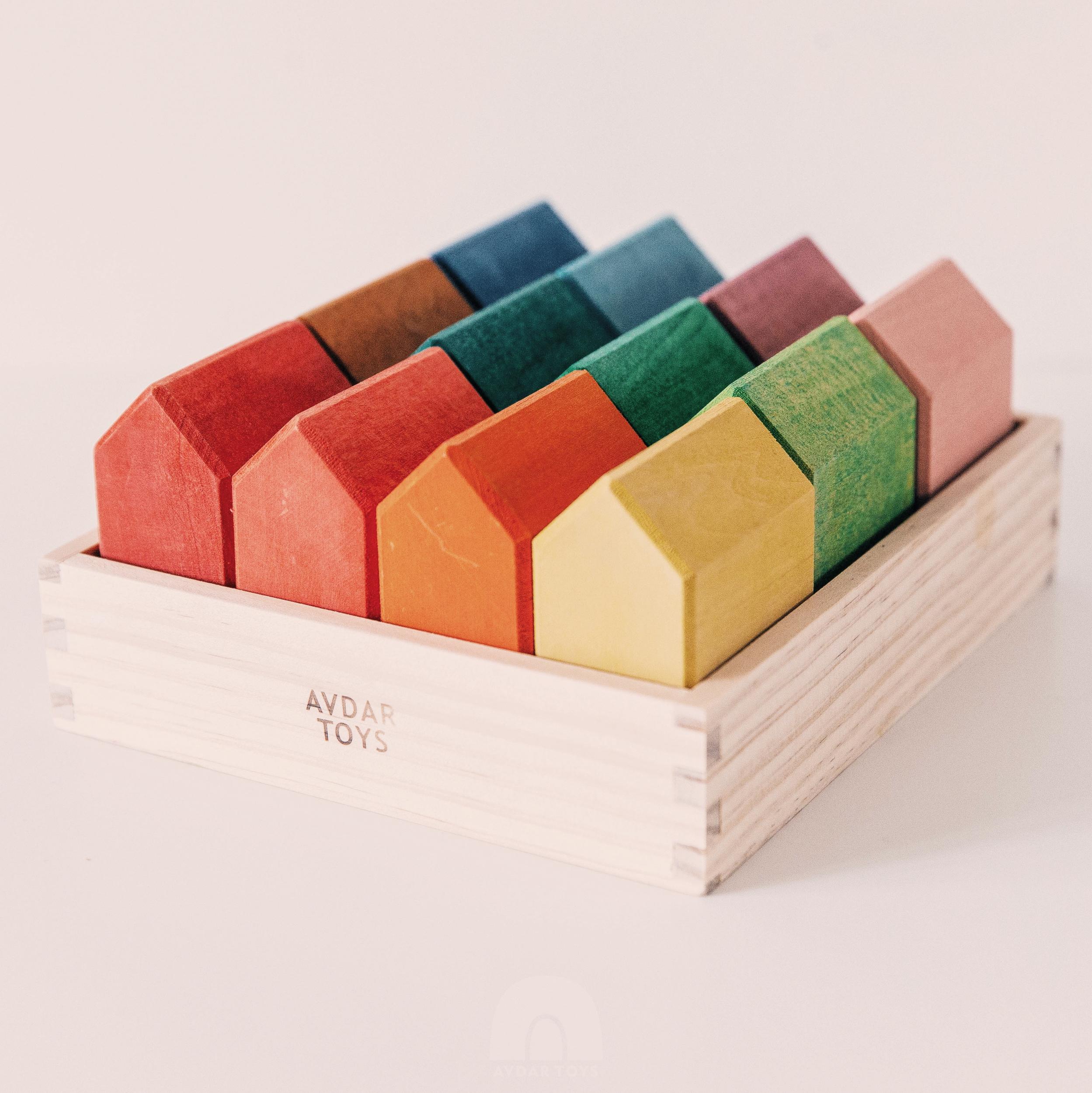 Maisons arc-en-ciel en bois