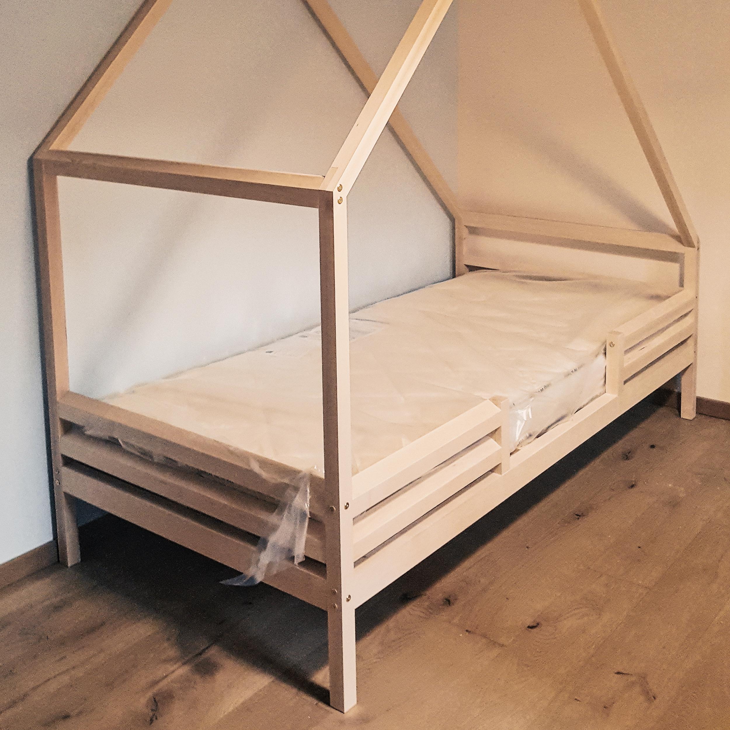 Lit Bebe Cabane Evolutif lit cabane lintukoto 90x190 (avec barrières)