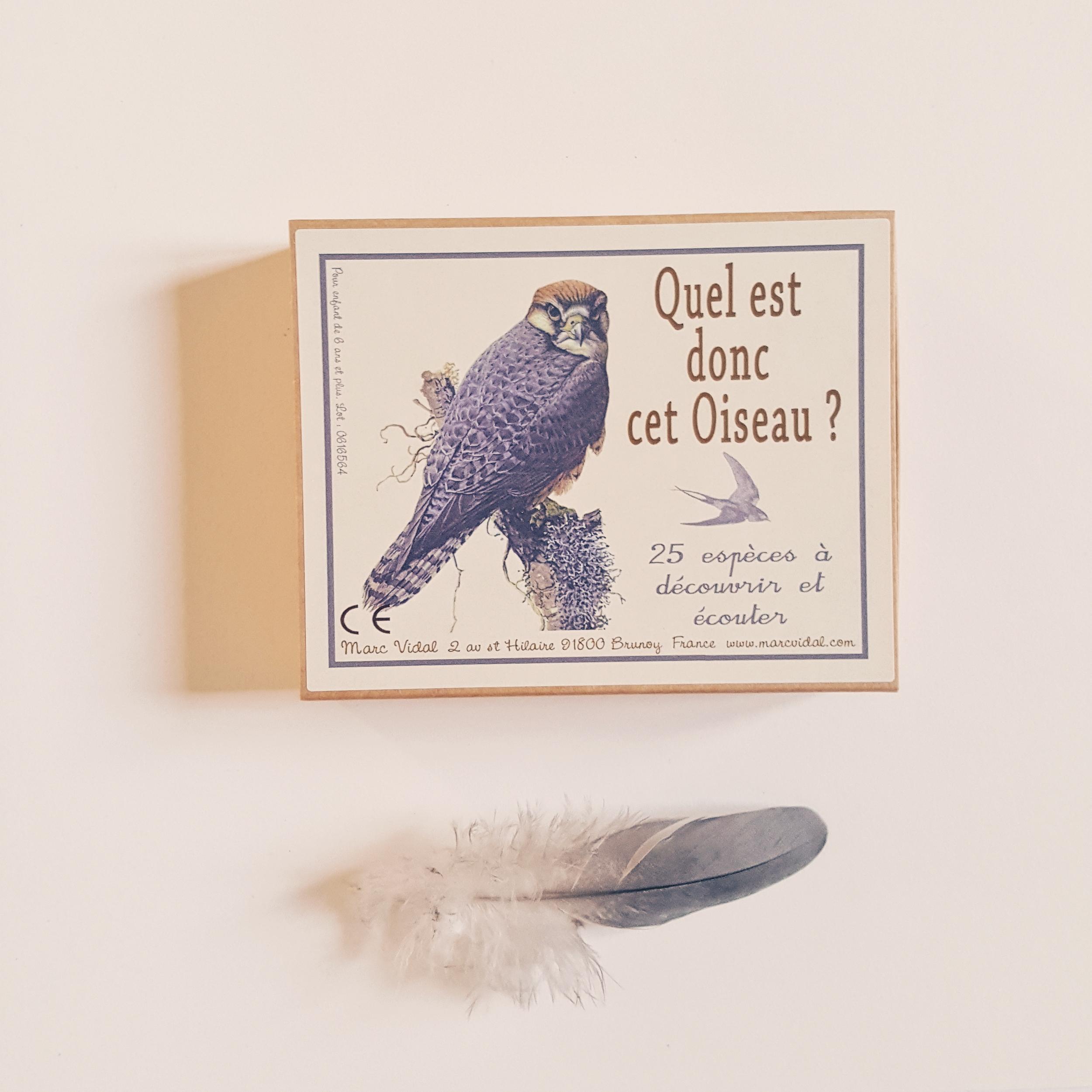 cartes pour connaître les espèces d'oiseaux