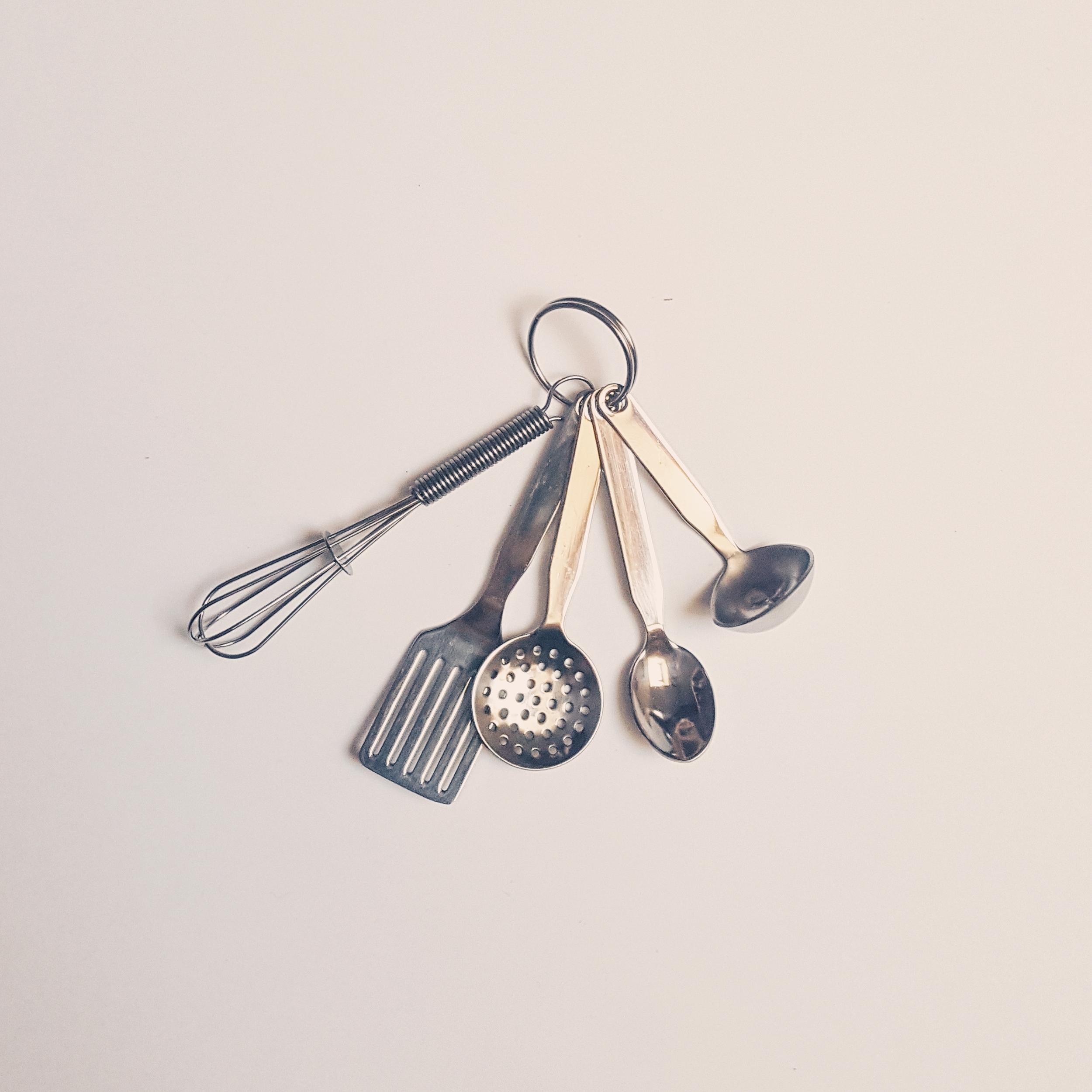 Ustensiles miniatures en inox