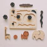figurines animaux bois