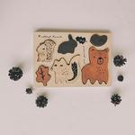 puzzle bois animaux foret