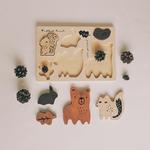 puzzle forme encastrer bois