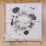 grand tapis éveil nois et blanc coton bio