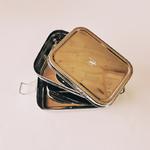 boîte à pique nique inox 3 compartiments