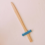 épée en bois bleue