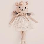 poupée souris fait main