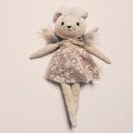 poupée robe vieux rose