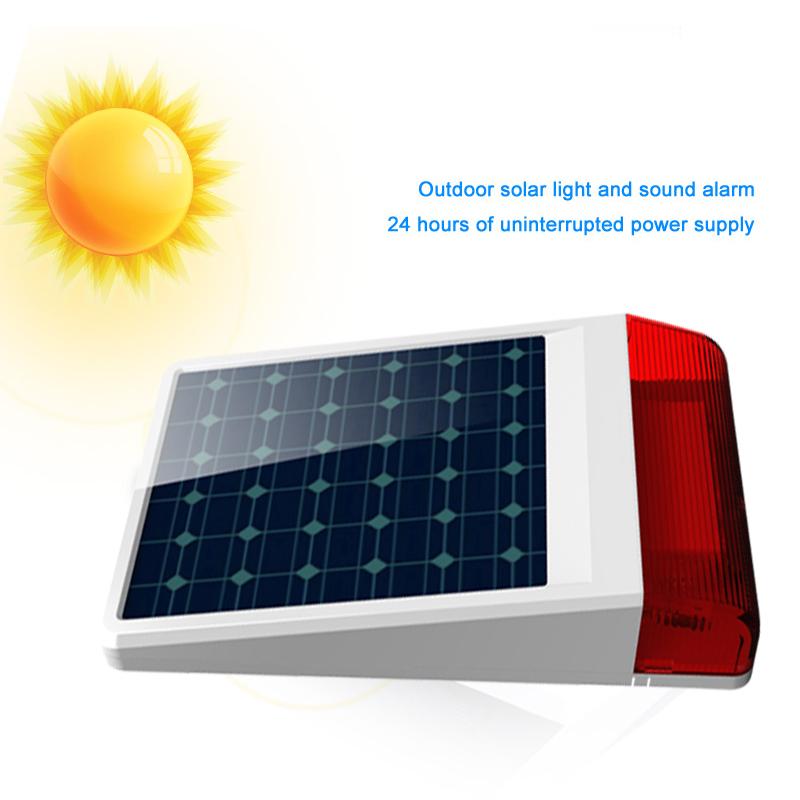 Sirène extérieure solaire pour centrale d\'alarme GUARDIAN-CONNECTION
